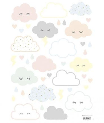 Lilipinso - Wall Sticker Laughing Clouds