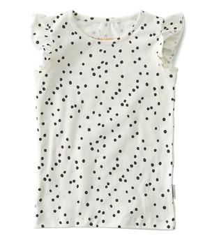 Little Label - Ruffle Top Black Specks