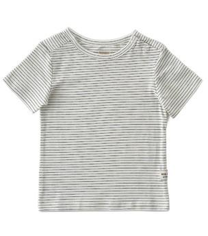 Little Label - Boys T-Shirt Small Black Stripes