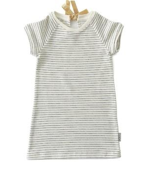 Little Label - Sweat Dress Stripes Almost Black