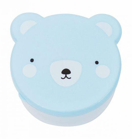 A Little Lovely Company - Set of 4 Snack Box Bear Blue