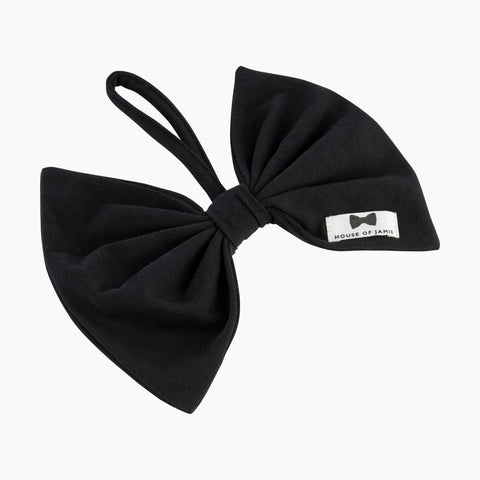 House of Jamie - Pacifier Cord Bow Tie Black