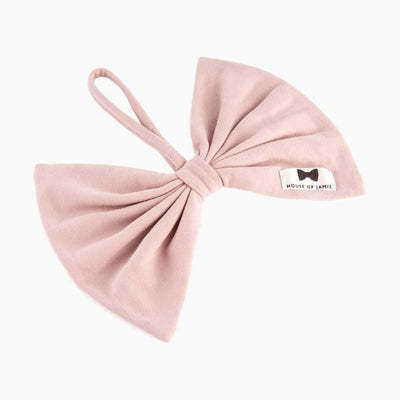 House of Jamie - Pacifier Cord Bow Tie Powder Pink