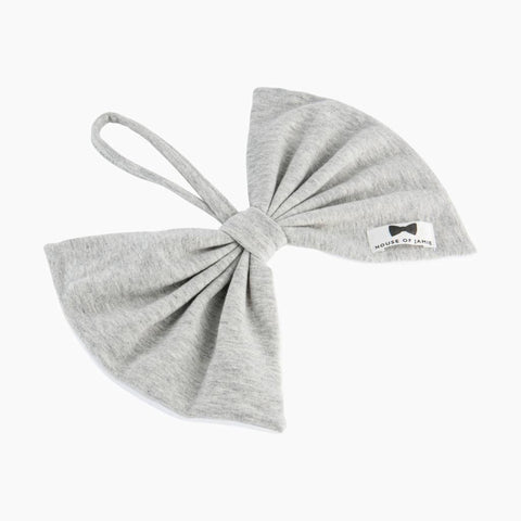 House of Jamie - Pacifier Cord Bow Tie Stone