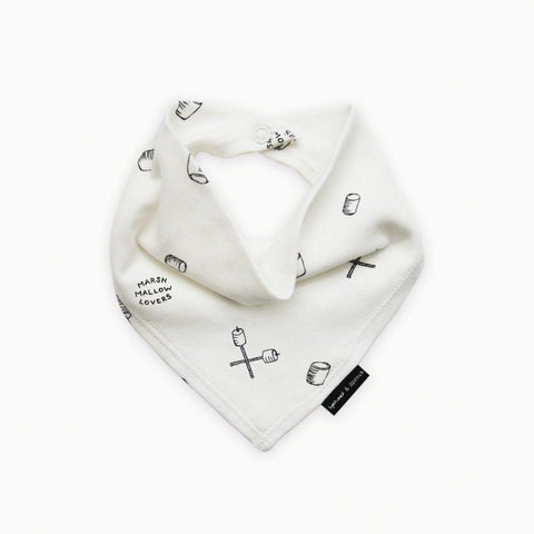 Sproet & Sprout - Bandana Bib Marshmallow Lovers Milk