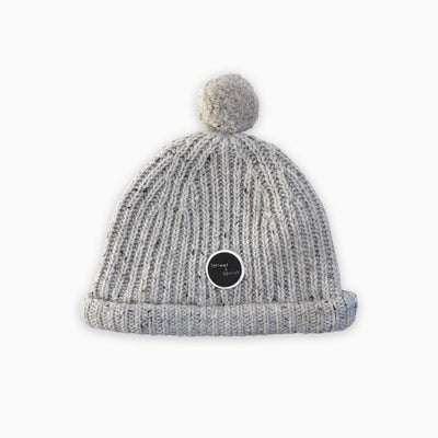 Sproet & Sprout - Beanie Pompon Light Grey Melee