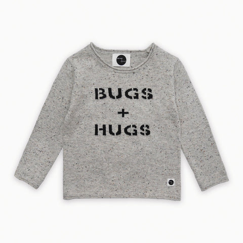 Sproet & Sprout - Pullover Bugs & Hugs Light Grey Melee