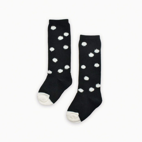 Sproet & Sprout - Socks Dots Black & Milk