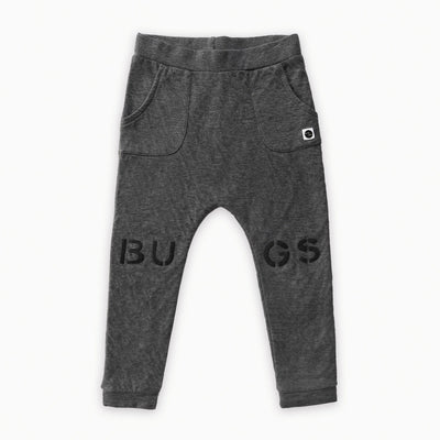 Sproet & Sprout - Sweat Pants Bugs at knees Dark Grey Melee