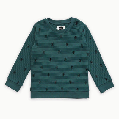 Sproet & Sprout - Sweater Ants Allover Forrest Green