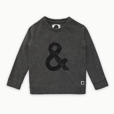 Sproet & Sprout - Sweater Raglan & Sign Dark Grey Melee