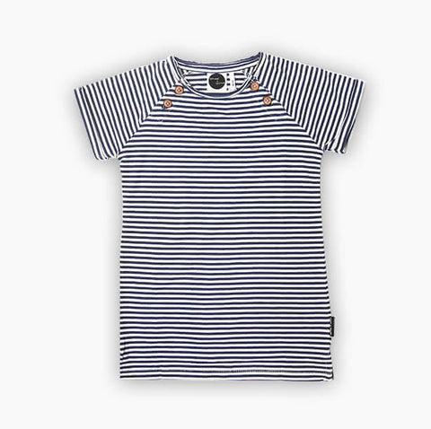 Sproet & Sprout - T- Shirt Dress Navy Stripes