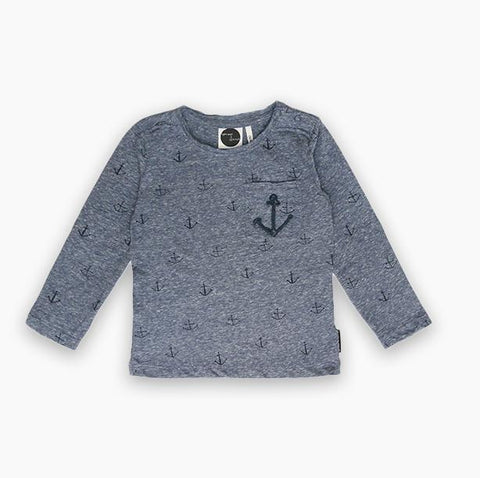 Sproet & Sprout - T-Shirt Navy Anchor
