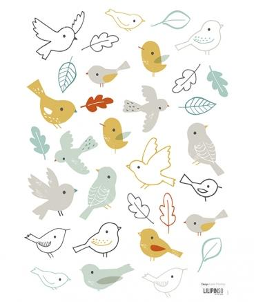 Lilipinso - Wall Sticker Birds Brachs Forest