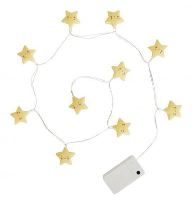 A Little Lovely Company - String Lights Stars Yellow