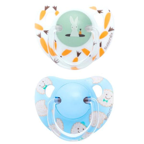 Set of 2 teethers Suavinex Rabbit & Cookies Blue  (+12m)