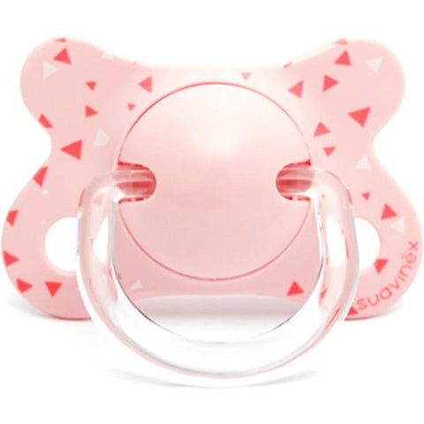 Teether Suavinex Fusion Pink Triangles (-2.4M)