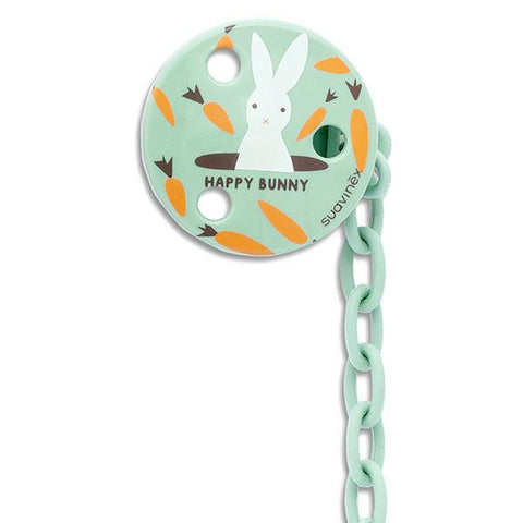 Soother Holder Round bunny mint