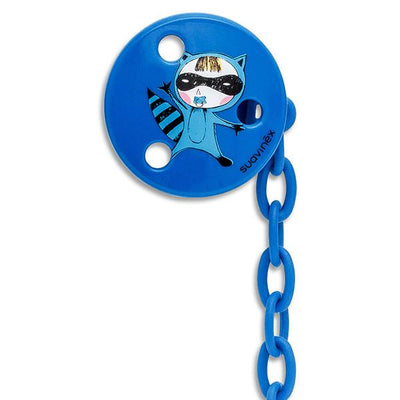 Soother Holder Round Superbaby blue