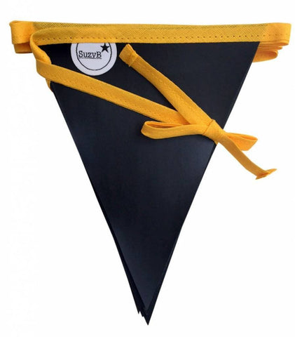 Chalkboard Party Flags Yellow