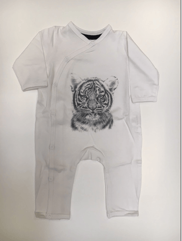 Miss Princess and Little Frog - Bodysuit Tencel long sleeves Tiger