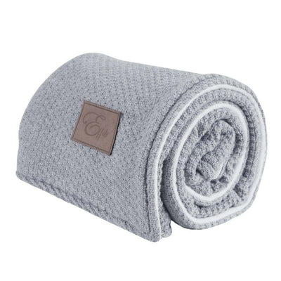 Effiki - Wool Double Blanket Grey And White