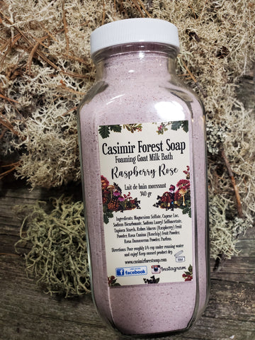 Raspberry Rose Foaming Goat Milk Bath