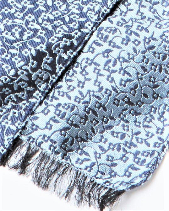 Dentric - Royal Blue Woven Silk Scarf (reversible)