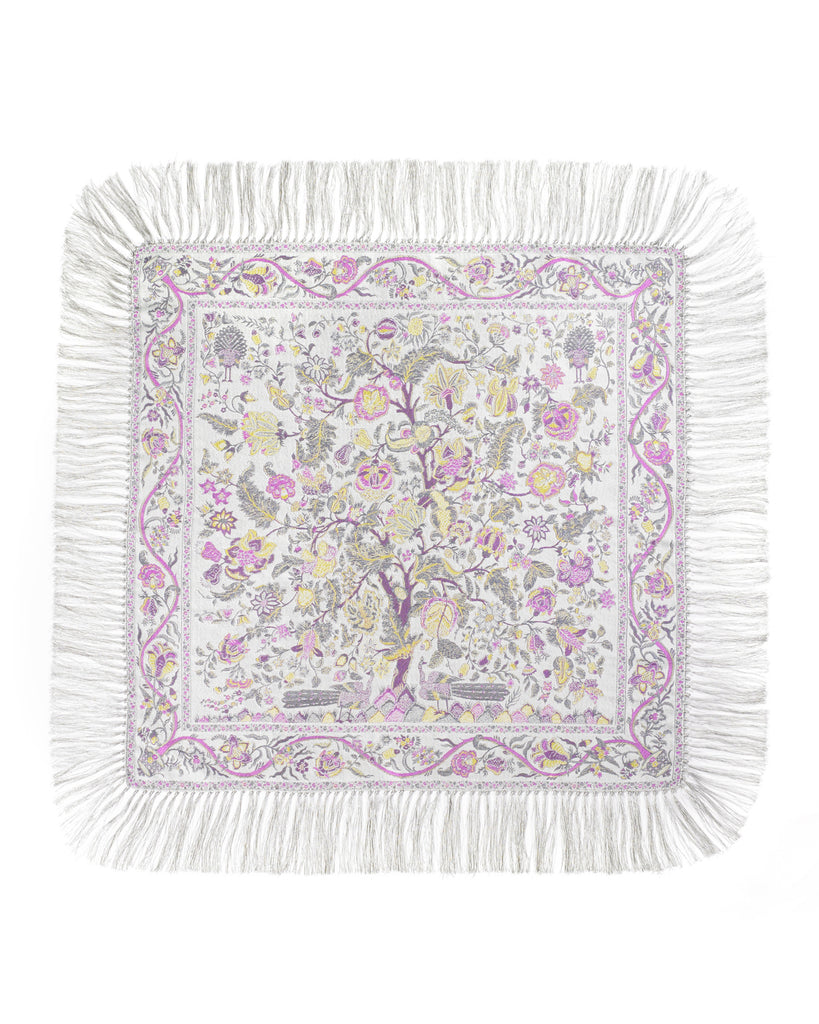 Chic Tapestry Woven Silk Scarf