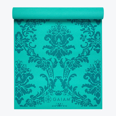 Neo-Baroque Print Yoga Mat Blue (3mm)