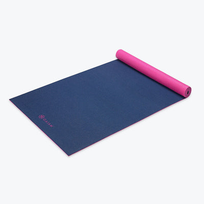 Navy Fleur 2-Color Yoga Mat (3mm)