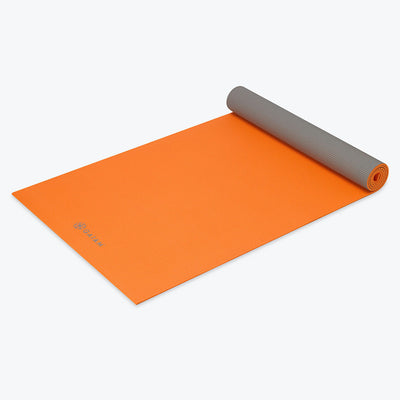 Premium Orange Storm 2-Color Yoga Mat (5mm)