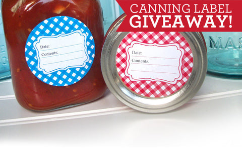 Canning Label Giveaway with Food in Jars