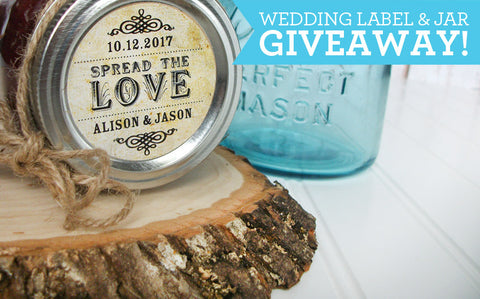 Wedding Label & Jam Jar GIVEAWAY!