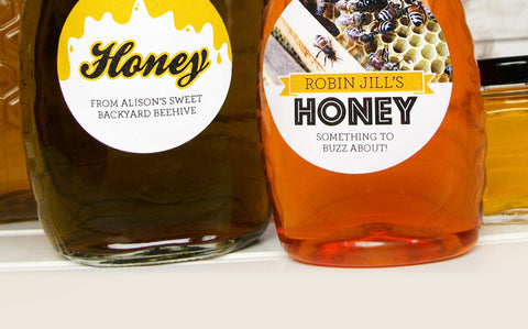 NEW Custom Honey Jar Labels