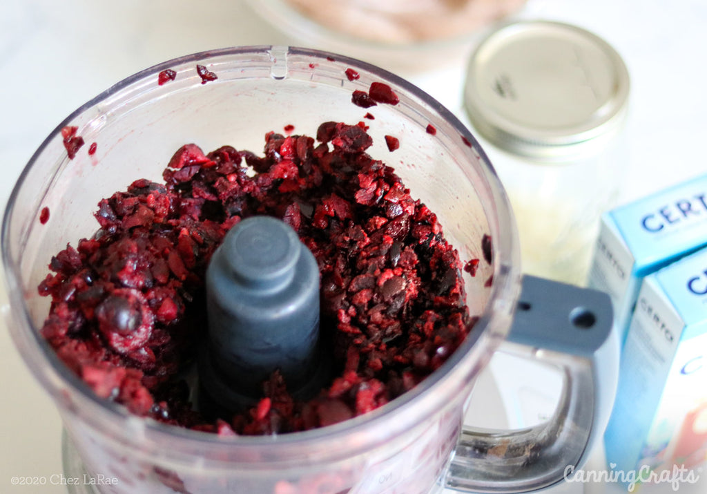Black Forest Macaroon Jam Canning Recipe chopped cherries | CanningCrafts.com