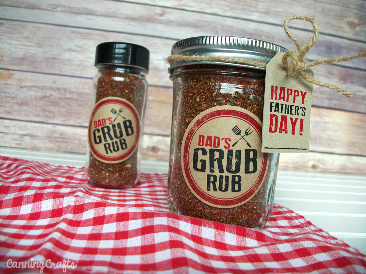 Father's Day BBQ Spice Rub Recipe with FREE printable tags & labels   CanningCrafts.com