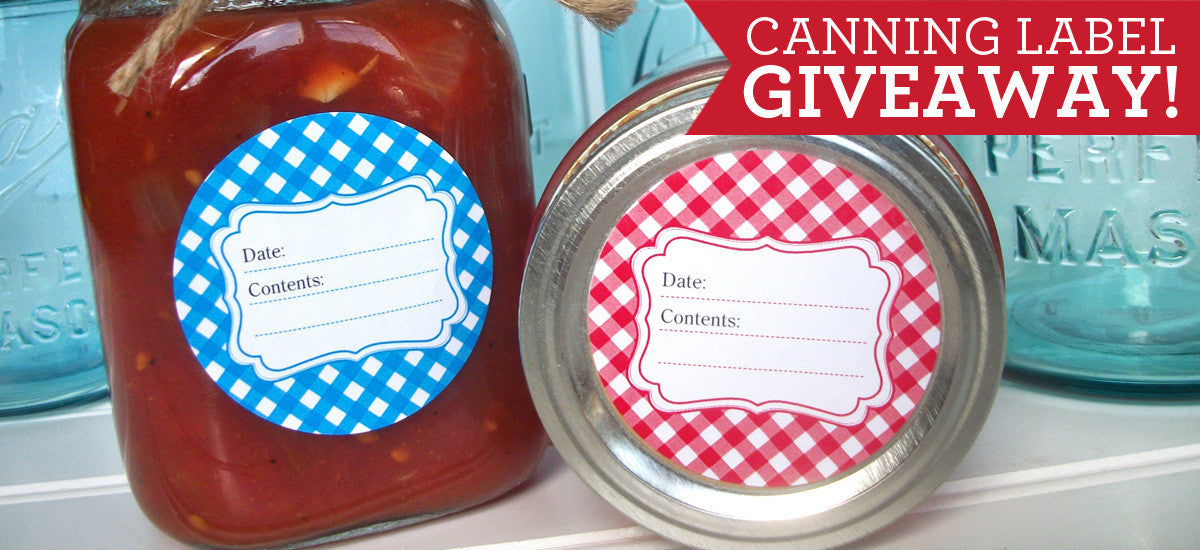 CanningCrafts.com canning label giveaway