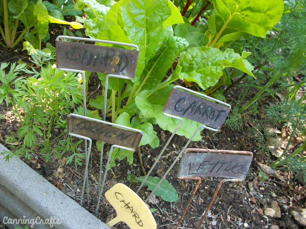 Garden Markers CanningCrafts