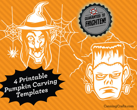 Free Printable Monster Halloween Pumpkin Carving Templates | CanningCrafts.com