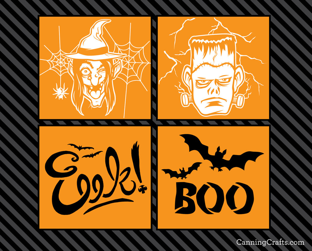 free spooky printable pumpkin carving templates canningcraftscom