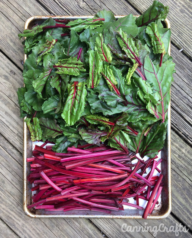 Beet Stems & Greens are edible | CanningCrafts.com