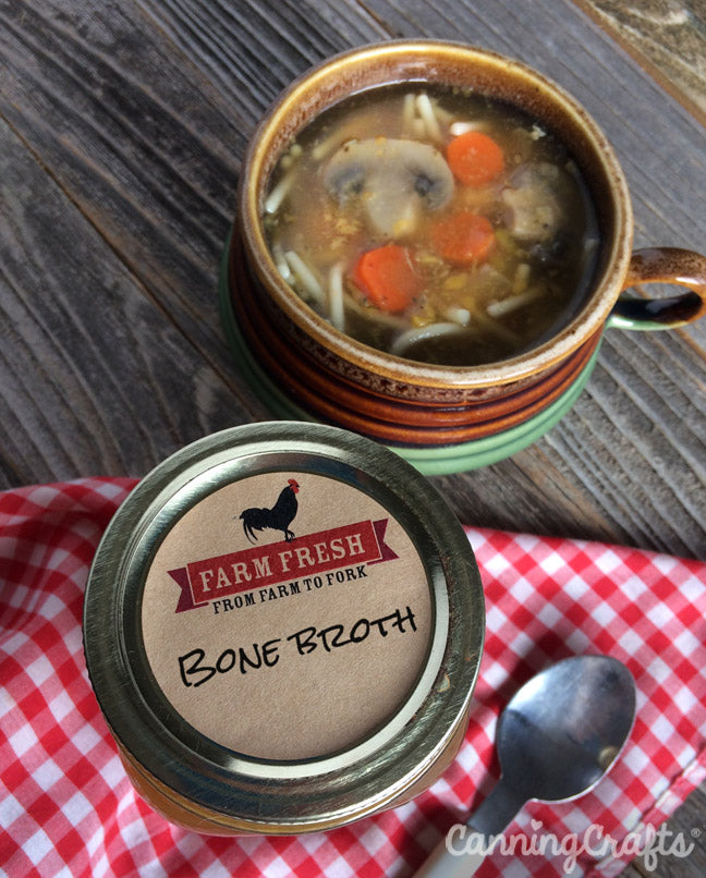 Slow Cooker Chicken Bone Broth Recipe & the healthy benefits of eating bone broth | CanningCrafts.com