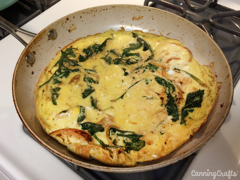dandelion greens frittata recipe | CanningCrafts.com