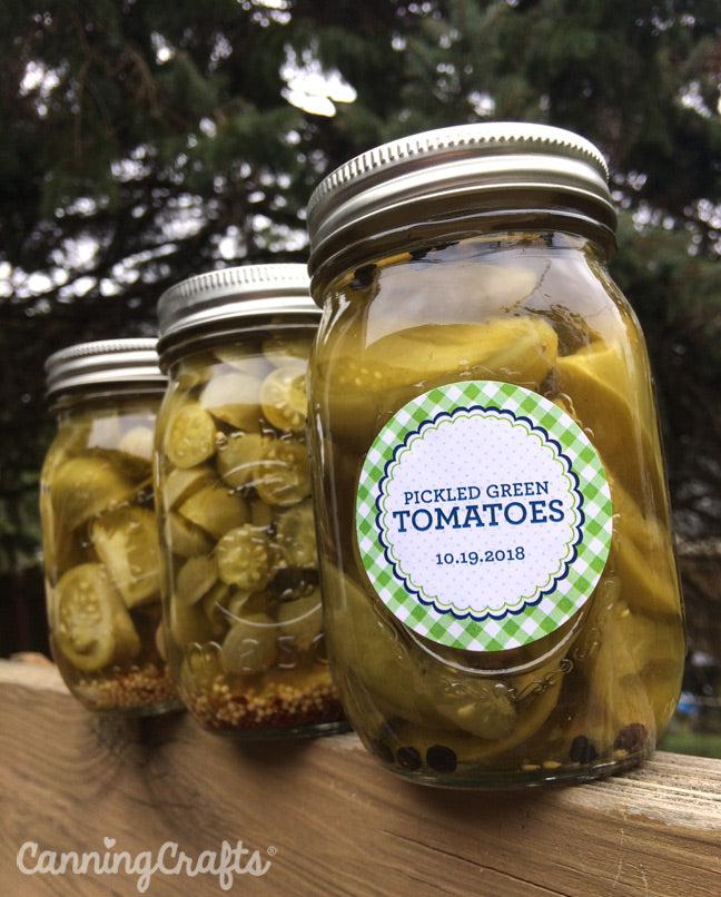 CanningCrafts garden 2018: Canning Green Tomatoes in Mason Jars