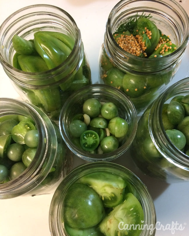 CanningCrafts garden 2018: Canning Green Tomatoes