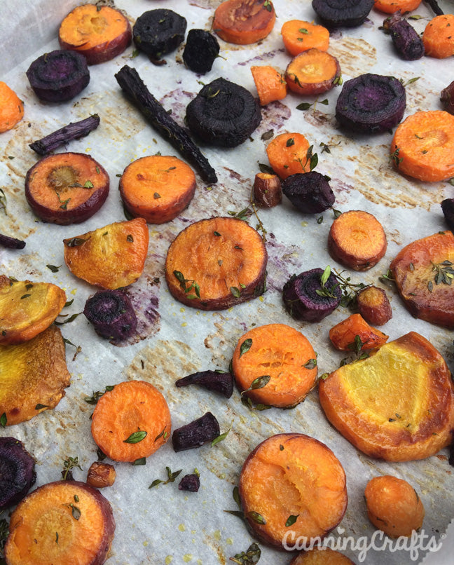 CanningCrafts garden 2018: Roasted heirloom kuroda, black nebula, & cosmic purple carrots