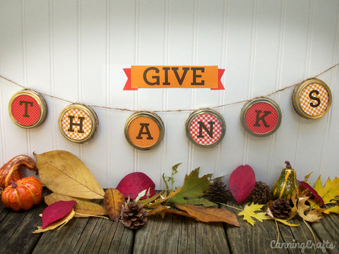 Free Printable Thanksgiving Banner from CanningCrafts.com