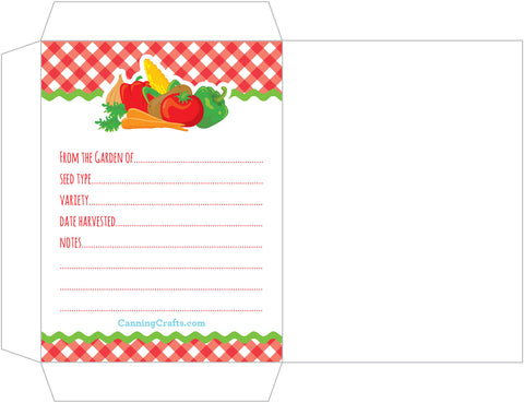 free printable vegetable seed packet from CanningCrafts.com