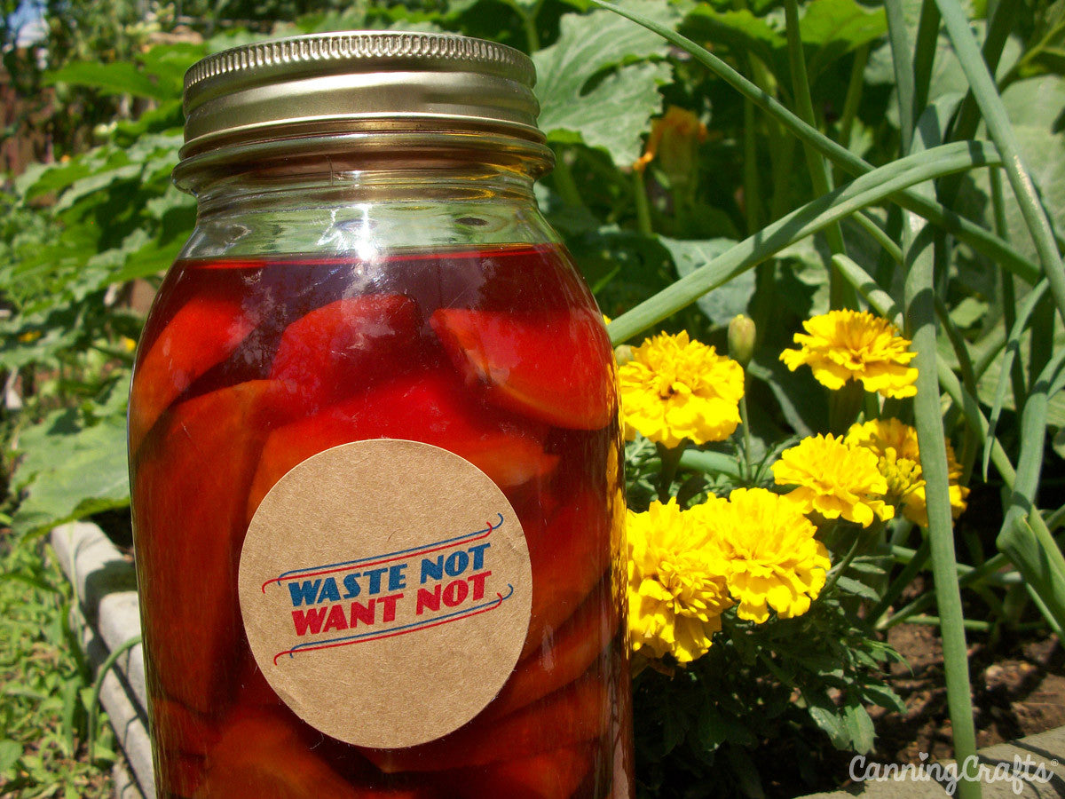 Waste not want not victory garden canning jar label | CanningCrafts.com